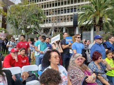 Politics, Spirituality, and Following the Breadcrumbs - My L.A. Bernie Sanders Rally Experience
